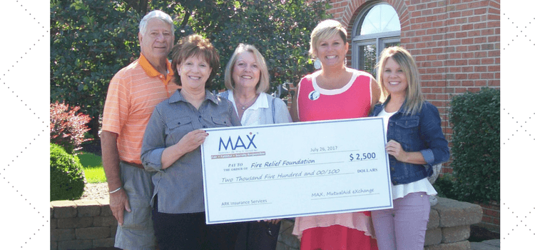 ARK Insurance Fire Relief Foundation Donation