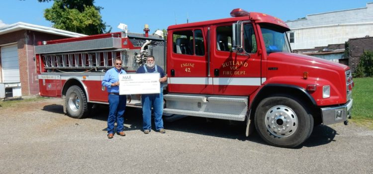 Sherman and MAX Insurance Contribute to Rutland Volunteer Fire Department