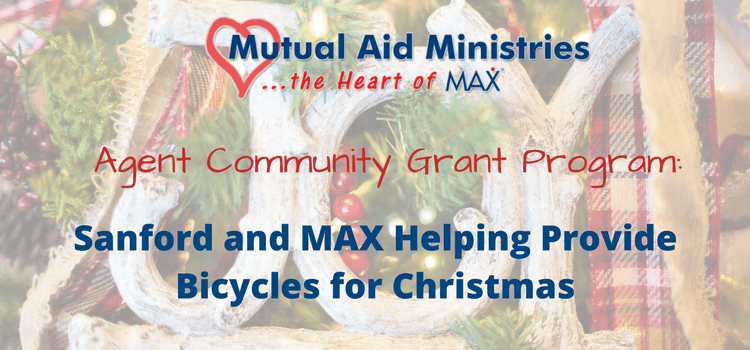 Sanford and MAX Insurance Helping Provide Bicycles for Christmas