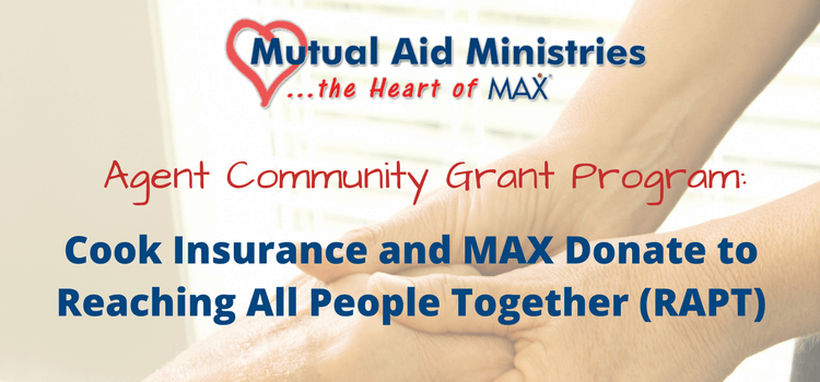 Cook Insurance and MAX Insurance Donate to Reaching All People Together (RAPT)
