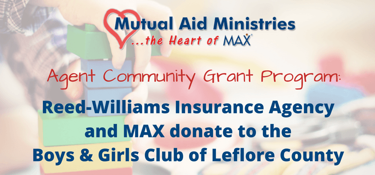 Reed-Williams Insurance Agency and MAX Insurance Donate to the Boys & Girls Club of Leflore County