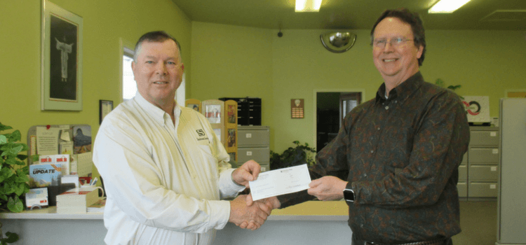 Stockman Insurance check presentation