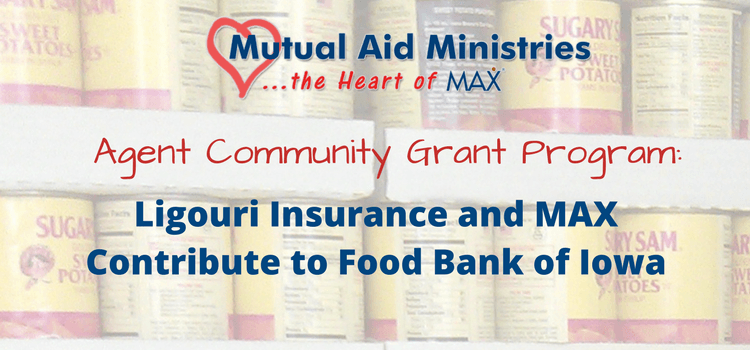 Ligouri Insurance and MAX Insurance Contribute to Food Bank of Iowa