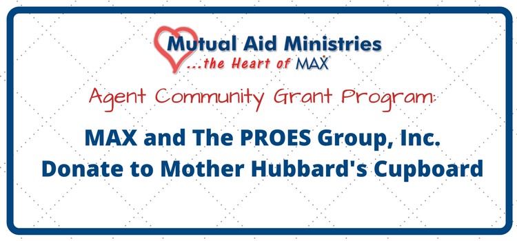 Mutual Aid Ministries Grant with PROES Group to Mother Hubbard's Cupboard Header