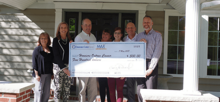 PROES Group Check Presentation Hoosiers Outrun Cancer