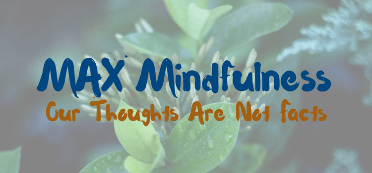 Our Thoughts Are Not Facts