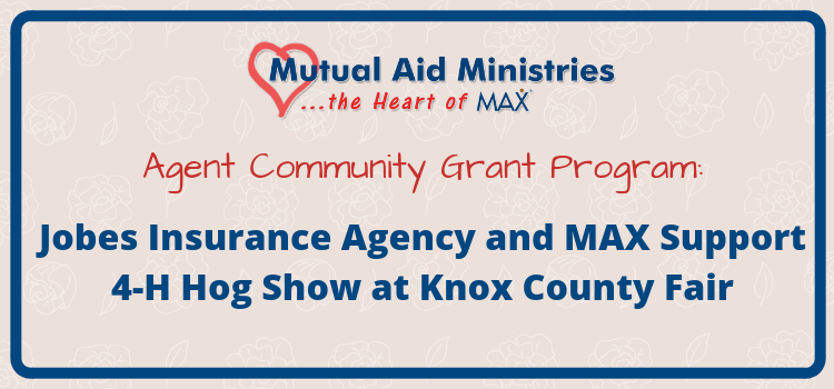 Jobes Insurance Agency and MAX Insurance<sup>®</sup> Support 4-H Hog Show at Knox County Fair