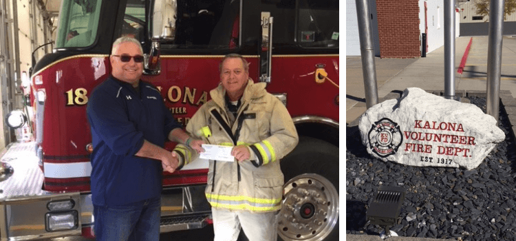 Southeast Iowa Insurance and MAX Insurance<sup>®</sup> Contribute to Kalona Volunteer Fire Department