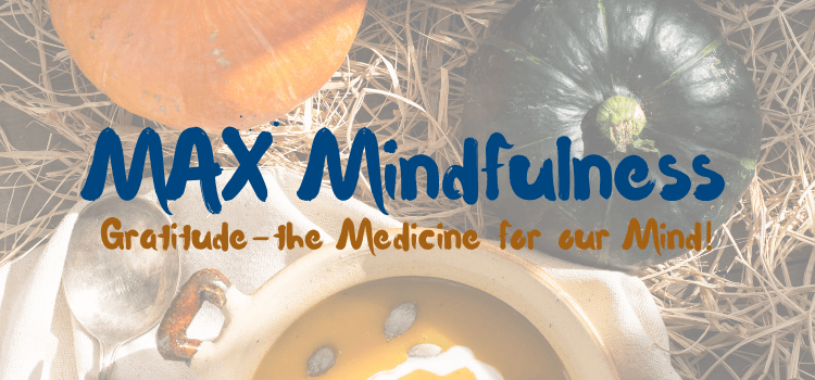 MAX Mindfulness:  Gratitude – The Medicine for our Mind!