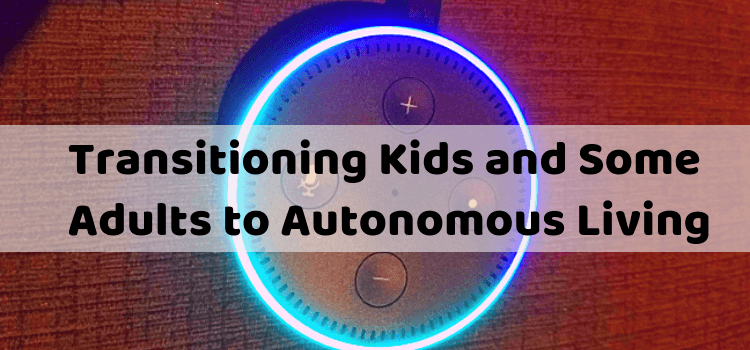 Transitioning Kids and Some Adults to Autonomous Living Graphic