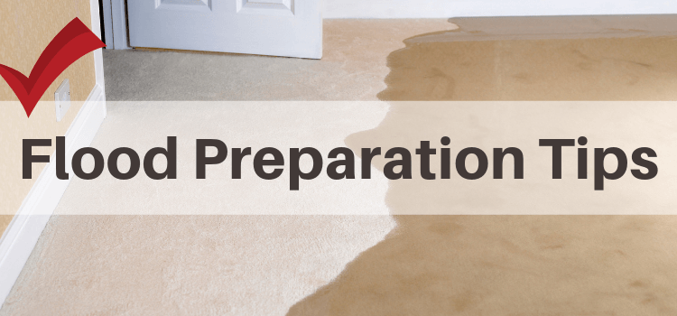 Flood preparation tips graphic
