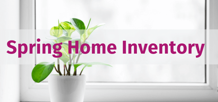 Spring home inventory graphic